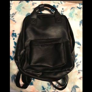 NWOT black mini backpack